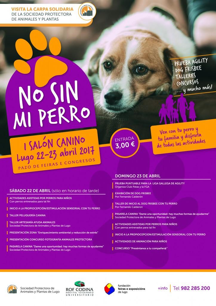 Cartel No sin mi perro logo hospital rof codina